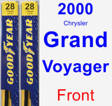 Front Wiper Blade Pack for 2000 Chrysler Grand Voyager - Premium