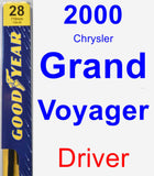 Driver Wiper Blade for 2000 Chrysler Grand Voyager - Premium
