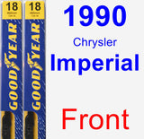 Front Wiper Blade Pack for 1990 Chrysler Imperial - Premium