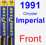 Front Wiper Blade Pack for 1991 Chrysler Imperial - Premium
