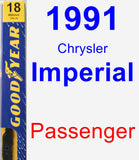 Passenger Wiper Blade for 1991 Chrysler Imperial - Premium