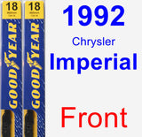 Front Wiper Blade Pack for 1992 Chrysler Imperial - Premium