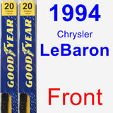 Front Wiper Blade Pack for 1994 Chrysler LeBaron - Premium