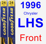 Front Wiper Blade Pack for 1996 Chrysler LHS - Premium