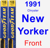 Front Wiper Blade Pack for 1991 Chrysler New Yorker - Premium