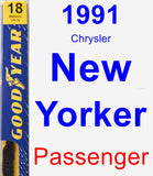 Passenger Wiper Blade for 1991 Chrysler New Yorker - Premium