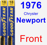 Front Wiper Blade Pack for 1976 Chrysler Newport - Premium