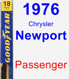Passenger Wiper Blade for 1976 Chrysler Newport - Premium