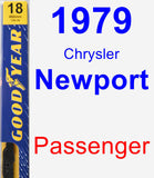 Passenger Wiper Blade for 1979 Chrysler Newport - Premium