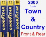 Front & Rear Wiper Blade Pack for 2000 Chrysler Town & Country - Premium