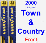 Front Wiper Blade Pack for 2000 Chrysler Town & Country - Premium