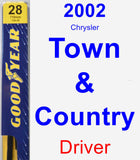 Driver Wiper Blade for 2002 Chrysler Town & Country - Premium