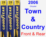 Front & Rear Wiper Blade Pack for 2006 Chrysler Town & Country - Premium