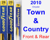 Front & Rear Wiper Blade Pack for 2010 Chrysler Town & Country - Premium