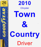 Driver Wiper Blade for 2010 Chrysler Town & Country - Premium