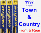 Front & Rear Wiper Blade Pack for 1997 Chrysler Town & Country - Premium