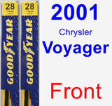 Front Wiper Blade Pack for 2001 Chrysler Voyager - Premium