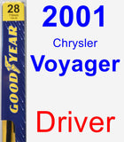 Driver Wiper Blade for 2001 Chrysler Voyager - Premium
