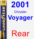 Rear Wiper Blade for 2001 Chrysler Voyager - Premium