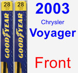 Front Wiper Blade Pack for 2003 Chrysler Voyager - Premium