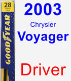 Driver Wiper Blade for 2003 Chrysler Voyager - Premium