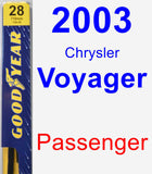Passenger Wiper Blade for 2003 Chrysler Voyager - Premium