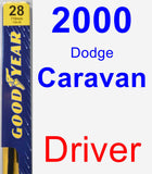 Driver Wiper Blade for 2000 Dodge Caravan - Premium