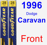 Front Wiper Blade Pack for 1996 Dodge Caravan - Premium