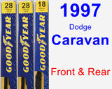 Front & Rear Wiper Blade Pack for 1997 Dodge Caravan - Premium