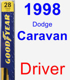 Driver Wiper Blade for 1998 Dodge Caravan - Premium