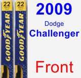 Front Wiper Blade Pack for 2009 Dodge Challenger - Premium