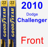 Front Wiper Blade Pack for 2010 Dodge Challenger - Premium