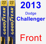 Front Wiper Blade Pack for 2013 Dodge Challenger - Premium