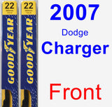 Front Wiper Blade Pack for 2007 Dodge Charger - Premium