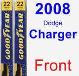 Front Wiper Blade Pack for 2008 Dodge Charger - Premium