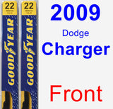 Front Wiper Blade Pack for 2009 Dodge Charger - Premium
