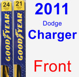 Front Wiper Blade Pack for 2011 Dodge Charger - Premium