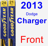 Front Wiper Blade Pack for 2013 Dodge Charger - Premium