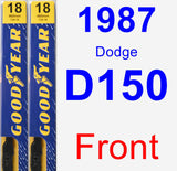Front Wiper Blade Pack for 1987 Dodge D150 - Premium