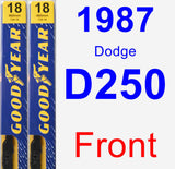 Front Wiper Blade Pack for 1987 Dodge D250 - Premium