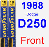Front Wiper Blade Pack for 1988 Dodge D250 - Premium