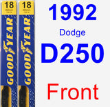 Front Wiper Blade Pack for 1992 Dodge D250 - Premium