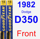 Front Wiper Blade Pack for 1982 Dodge D350 - Premium