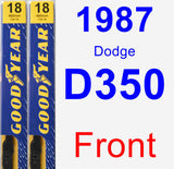 Front Wiper Blade Pack for 1987 Dodge D350 - Premium