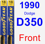 Front Wiper Blade Pack for 1990 Dodge D350 - Premium