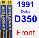 Front Wiper Blade Pack for 1991 Dodge D350 - Premium