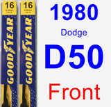 Front Wiper Blade Pack for 1980 Dodge D50 - Premium
