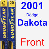 Front Wiper Blade Pack for 2001 Dodge Dakota - Premium