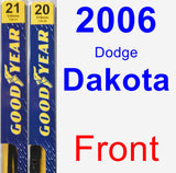 Front Wiper Blade Pack for 2006 Dodge Dakota - Premium