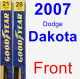 Front Wiper Blade Pack for 2007 Dodge Dakota - Premium